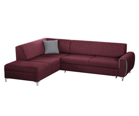 Разтегателен ляв ъглов диван Contour Red