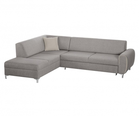Разтегателен ляв ъглов диван Contour Grey