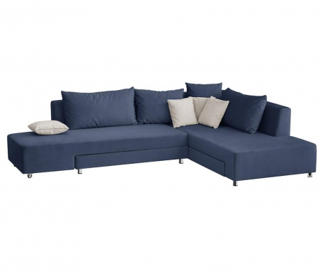 Модулен десен ъглов диван Velours Blue