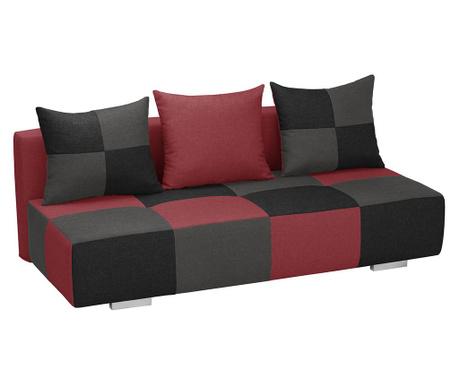 Kauč trosjed na razvlačenje Dandy Red Black and Anthracite