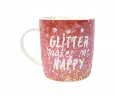 Чаша Glitter Makes Me Happy 300 мл