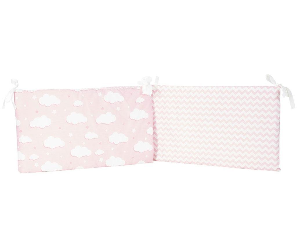 Protectie pentru patut Clouds Pink 40x210 cm
