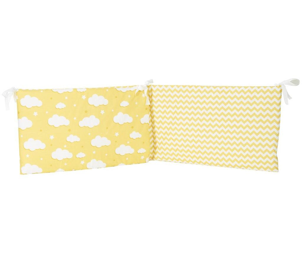 Protectie pentru patut Clouds Yellow 40x210 cm