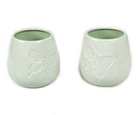 Green Butterfly 2 db Virágcserép
