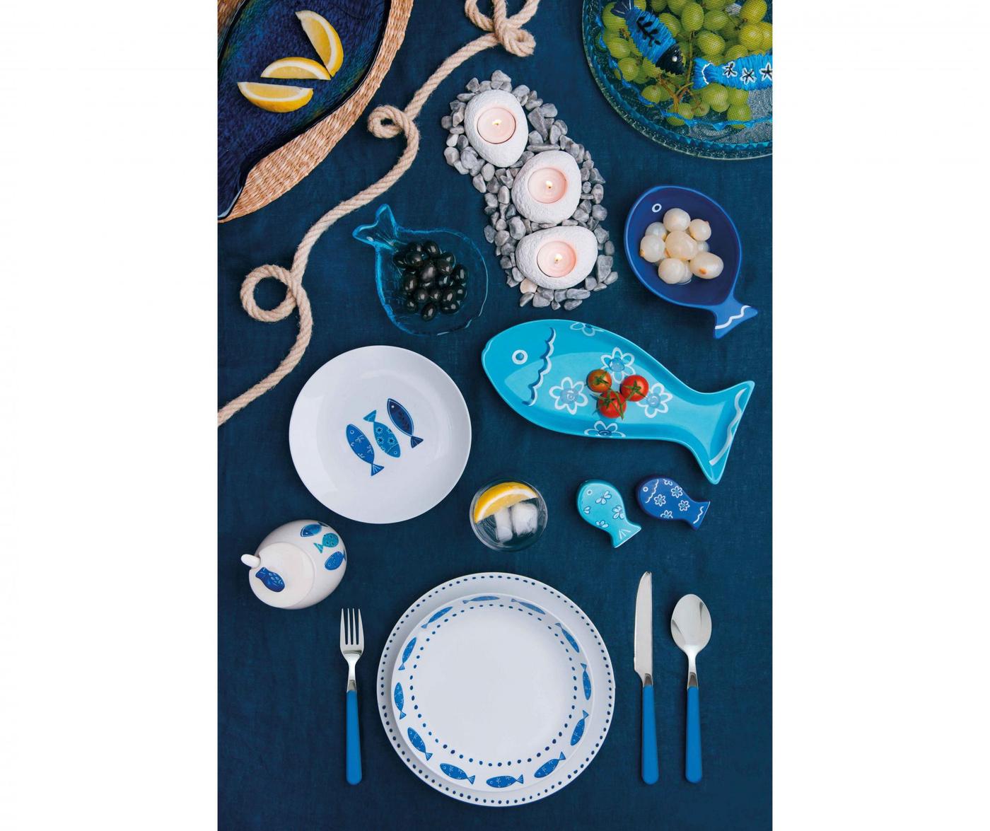 Set de masa 18 piese Ocean Blue