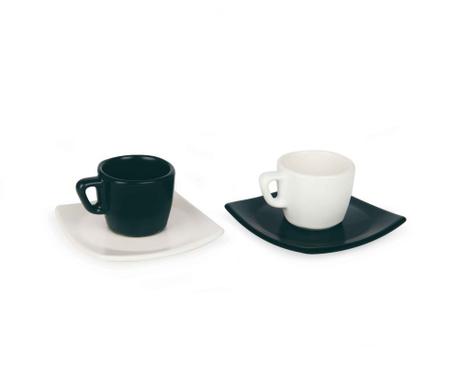 Zestaw 6 filiżanek i 6 talerzyków do kawy Eclipse