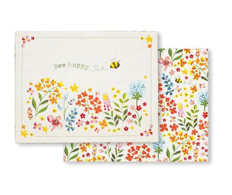 Bee Happy 2 db Tányéralátét 35x45 cm