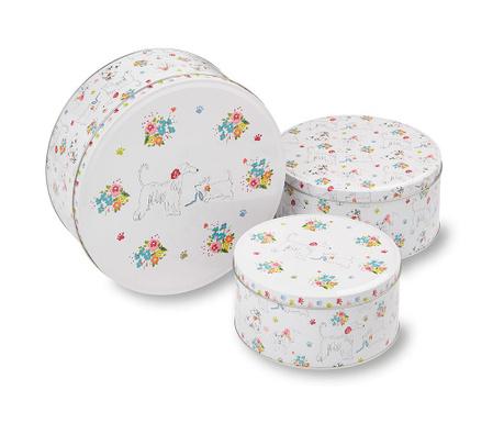 Zestaw 3 pudełek z pokrywką Dapper Dogs Cake