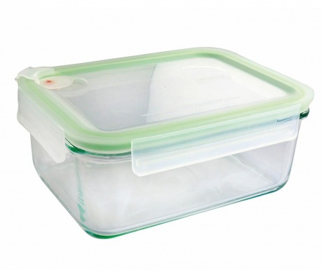 Zdjela s  hermetičkim poklopcem Air Rectangular Green 1.1 L