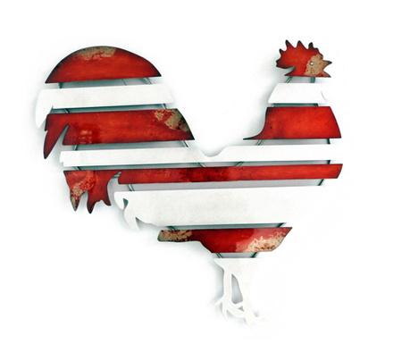 Rooster Fali dekoráció