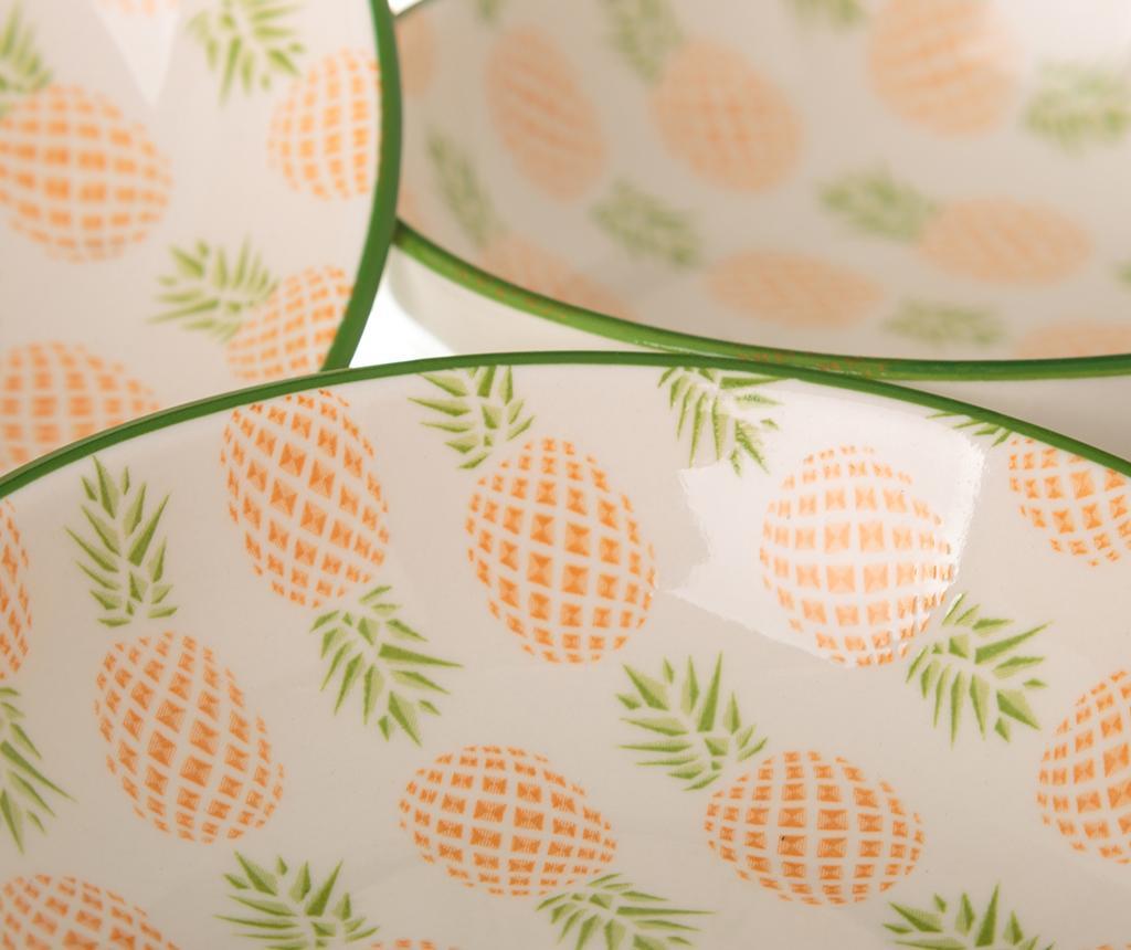 Set 4 skledic za prigrizke Pineapple Tall Green
