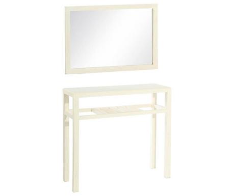 Set oglinda si consola Lobby White