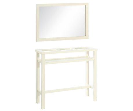 Set oglinda si consola Entra White