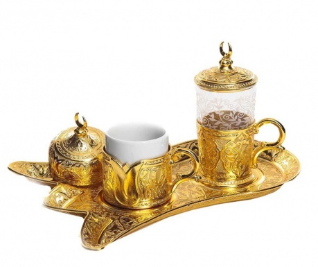 Serim Gold 5 darabos Kávéskészlet
