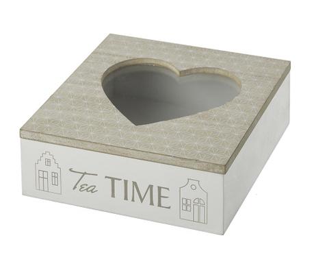 Кутия с капак за чай Heart