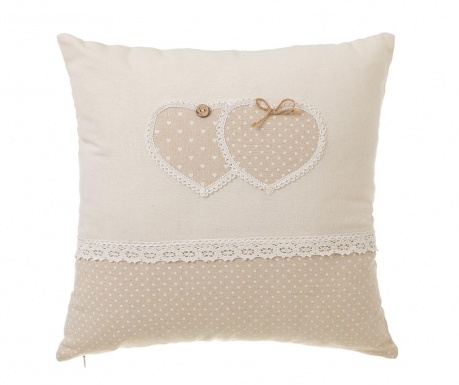 Perna decorativa Two Hearts 45x45 cm