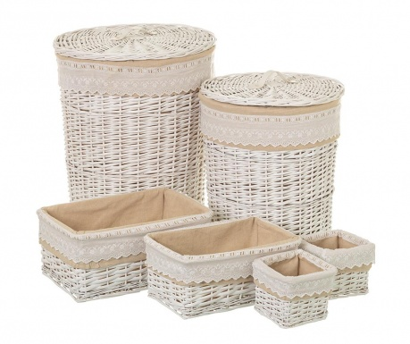 Set 6 cosuri Wicker