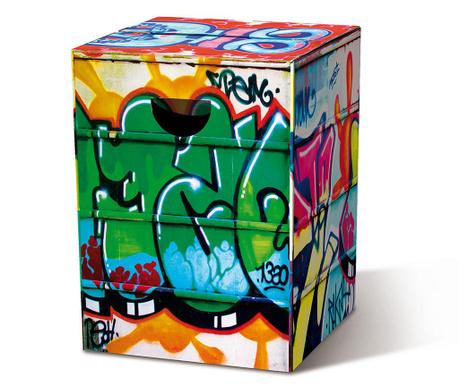 Taburet pliabil Graffiti