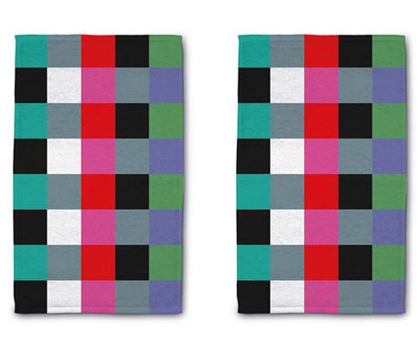 Комплект 2 кърпи за баня Square 30x50 см