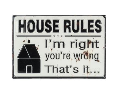 Decoratiune de perete House Rules