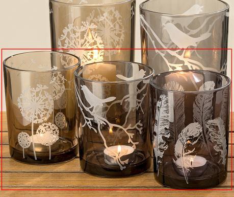Zestaw 3 świeczników Kiren