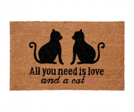 Covoras de intrare Cat Love 45x75 cm