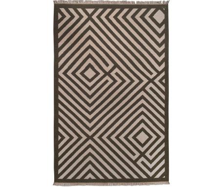 Covor Kilim Shaman Fringe Brown 152x244 cm
