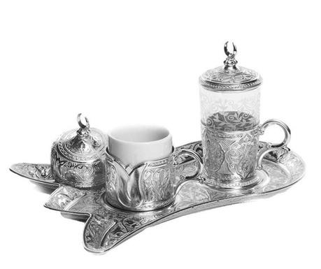 Сервиз за кафе 5 части Serim Silver