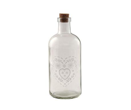Sticla decorativa cu dop Cybele Heart