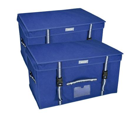 Set 2 cutii cu capac pentru depozitare Navy Mae