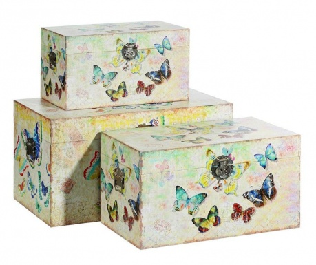 Colourful Butterflies 3 db Koffer