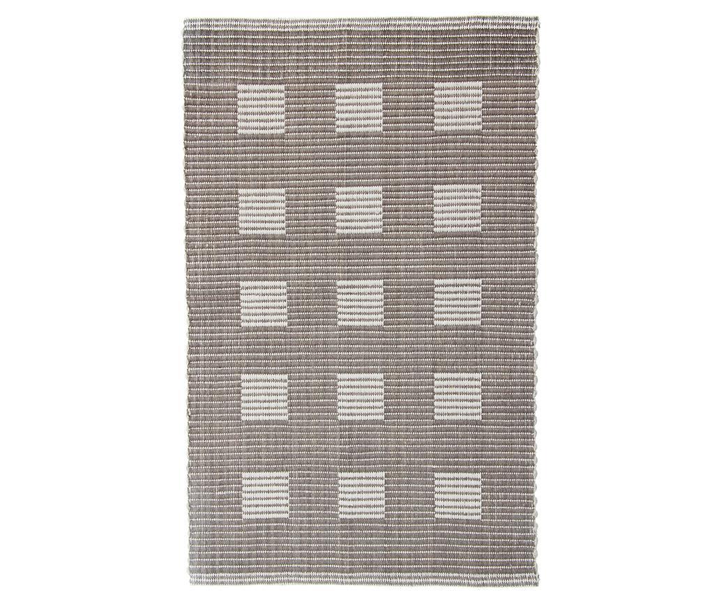 Covoras de baie Ribbed Squares Beige 60x100 cm