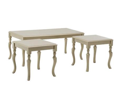 Set 3 klubskih mizic Bacchus