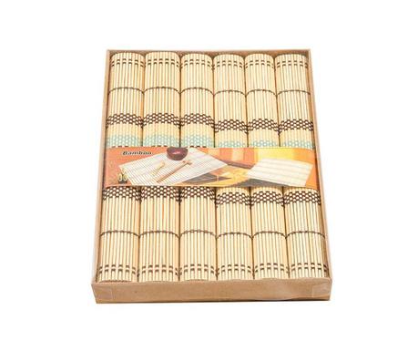 Bamboo Beige 6 db Tányéralátét 35x40 cm