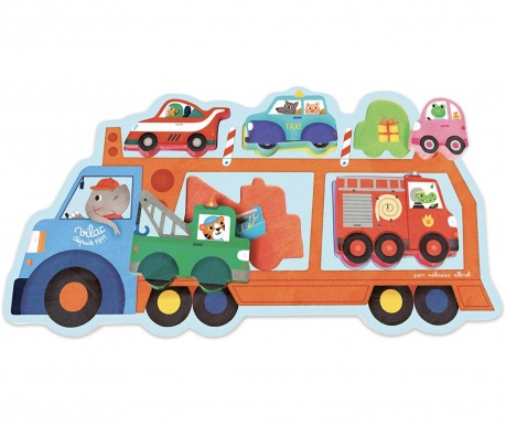 Hra typu puzzle, 5 dílů Bus