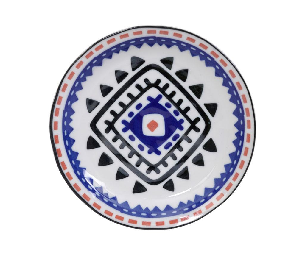 Tokyo Design Studio Ethnic Black Blue Desszertes tányér