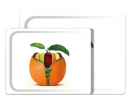 Sada 2 servírovacích podnosů Orange