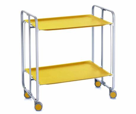 Сгъваема количка за сервиране Matte Yellow