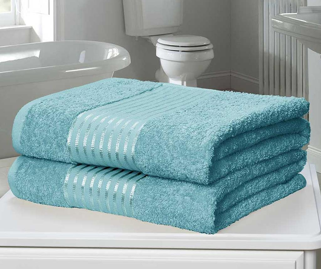 Sada 2 ručníků Windsor Turquoise 90x140 cm