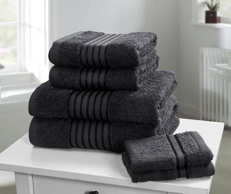 Windsor Black 6 db Fürdőszobai törölköző