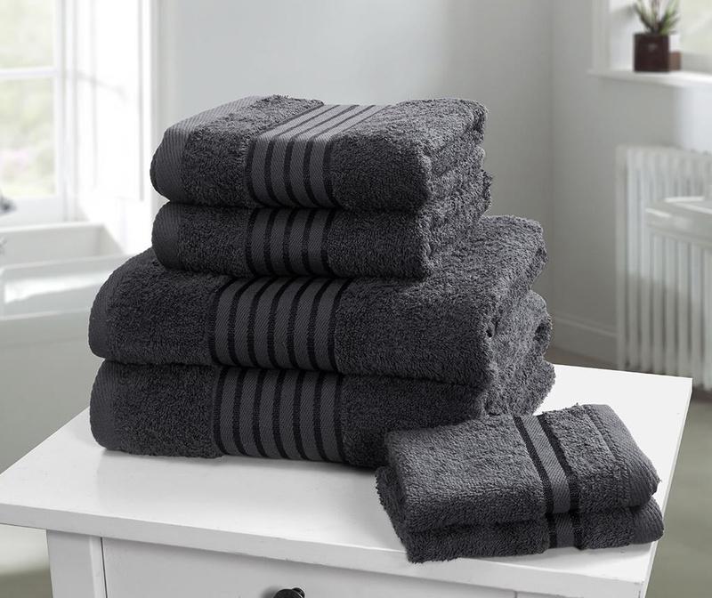 Set 6 kupaonskih ručnika Windsor Grey