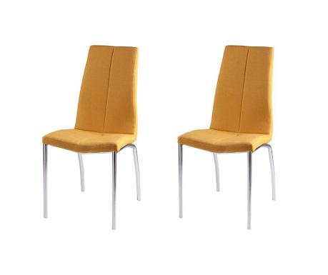 Set 2 scaune Carla Yellow