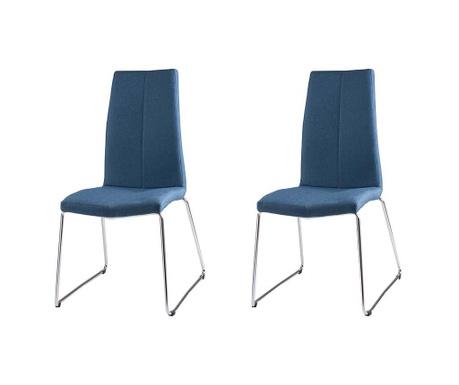 Set 2 scaune Aroa Dark Blue