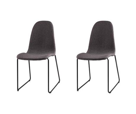 Set 2 scaune Helena Dark Grey