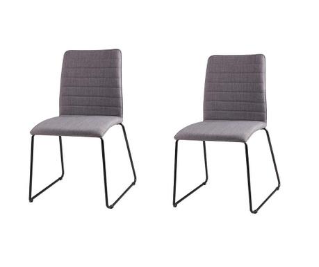 Set 2 scaune Vera Light Grey