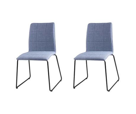 Set 2 scaune Malina Light Blue