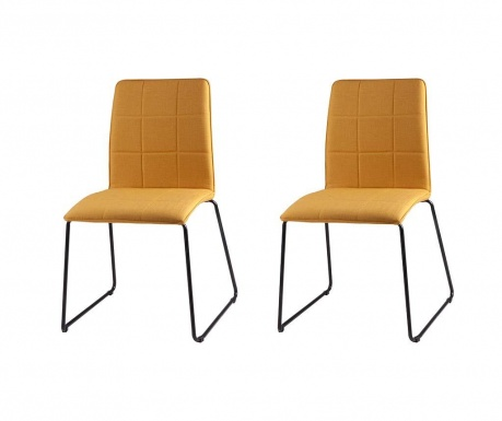Set 2 scaune Malina Yellow