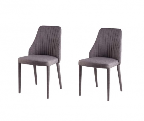 Set 2 scaune Dora Light Grey