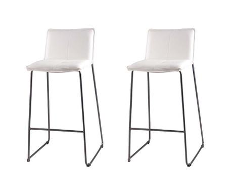 Set 2 scaune de bar Lou White