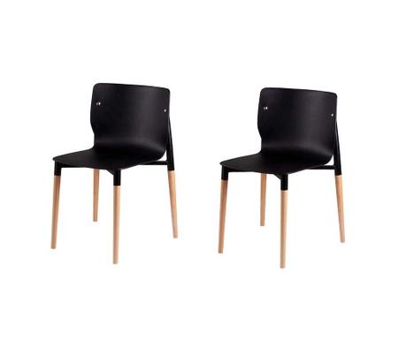 Set 2 scaune Alisia Black